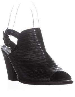 Paul Green Waverly Buckle Sandals, Black Leather.