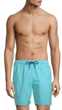 Mr.Swim Geometric-Print Swim Shorts