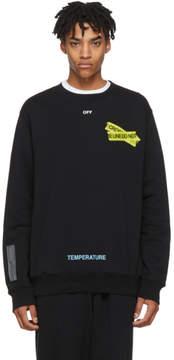 Off-White Black Firetape Sweatshirt
