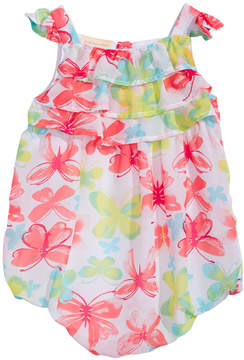 First Impressions Baby Girls Butterfly-Print Bubble Romper, Created for Macy's