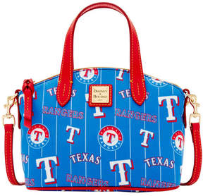 Dooney & Bourke Texas Rangers Nylon Mini Crossbody Satchel - BLUE/RED - STYLE
