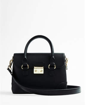 Express double handle satchel