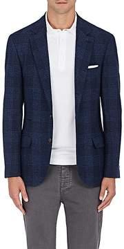 Brunello Cucinelli Men's Glen Plaid Wool-Blend Three-Button Sportcoat