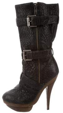 Elizabeth and James Leather Mid-Calf Boots