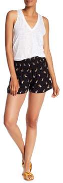 Angie Pineapple Printed Smocked Waist Shorts