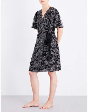 Carine Gilson Chantilly lace and stretch-silk robe