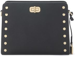 Michael Kors Sylvie Leather Messenger Bag With Studs - NERO - STYLE