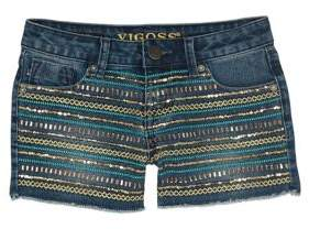 Vigoss Little Girl's Sequin Stripe Shorts