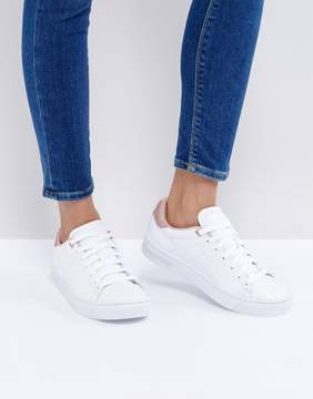 K-Swiss Court Frasco Sneakers In White And Pearl Pink