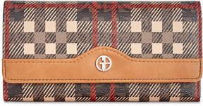 Giani Bernini Plaid Logo Receipt Wallet, Created for Macy's