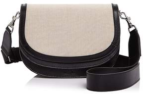 Steven Alan Landon Linen Flap Leather Saddle Bag
