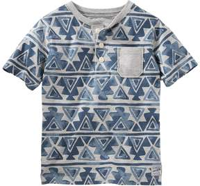 Osh Kosh Boys 4-8 Geometric Henley Tee