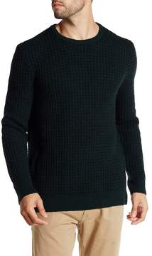 Kenneth Cole New York Long Sleeve Crew Neck Wool Blend Waffle Sweater