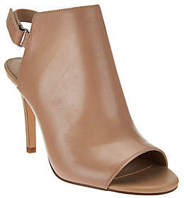Halston H by Peep Toe Slingback Leather Bootie- Ivy