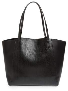 Bp. Colorblock Faux Leather Tote - Black