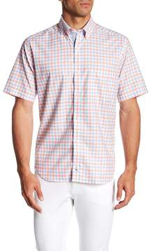 Tailorbyrd Short Sleeve Gingham Print Classic Fit Woven Shirt