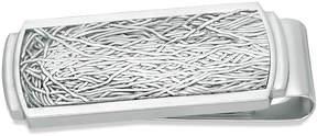 Zales Men's Satin Wire-Textured Money Clip in Stainless Steel