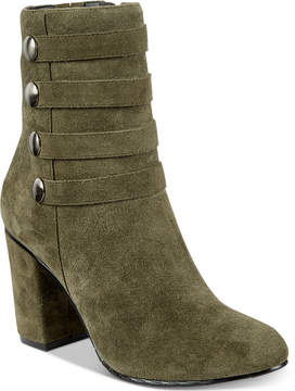 Kenneth Cole Reaction Time To Be Block-Heel Booties Women's Shoes