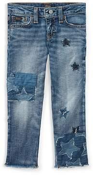 Polo Ralph Lauren Girls' Star Patchwork Jeans - Little Kid