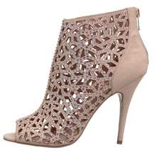 Zigi Darlah Peep-toe Embellished Ankle Booties.