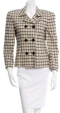 Christian Dior Knit Windowpane Pattern Blazer