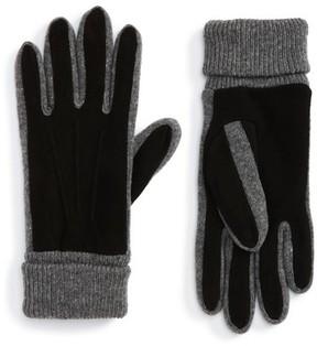 Nordstrom Men's Suede Trim Knit Gloves