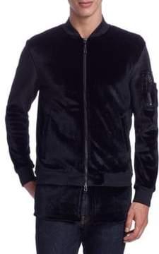 Saks Fifth Avenue x Anthony Davis Zip-Up Velvet Jacket