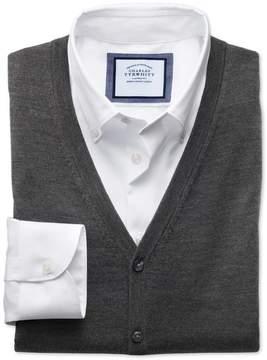 Charles Tyrwhitt Charcoal Merino Wool Vest Size Small