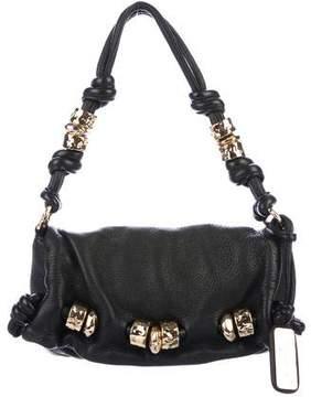 Michael Kors Leather Flap Shoulder Bag - BLACK - STYLE