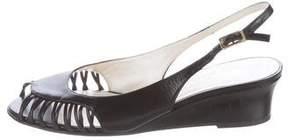 Bruno Magli Leather Wedge Sandals