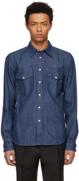 Paul Smith Blue Tailored Denim Shirt