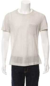 Massimo Alba Distressed Crew Neck T-Shirt