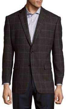 Lauren Ralph Lauren Plaid Wool Blazer