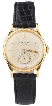 Patek Philippe Calatrava 1491 18K Gold With Champagne Dial Vintage Mens Watch