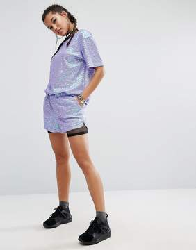 Jaded London Shorts In Sequin Co-Ord