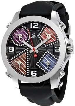 Jacob & co Five Time Zone Multi-Color Carbon Fiber Dial Men's Watch