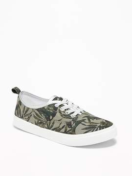 Old Navy Printed Elastic-Lace Canvas Sneakers for Girls