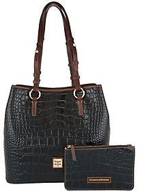 As Is Dooney & Bourke Croco Leather Shoulder Bag