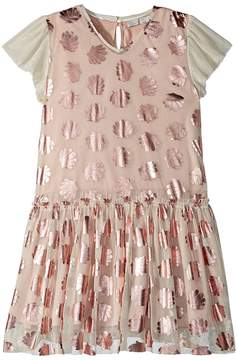 Stella McCartney Bellie Tulle Dress w/ Metallic Seashells Girl's Dress