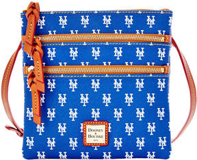 Dooney & Bourke New York Mets Triple Zip Crossbody Bag - BLUE - STYLE