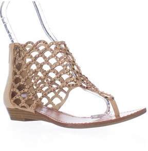 Zigi Soho Mela Caged Gladiator Flat Sandals, Cinnamon.