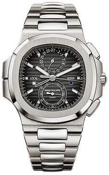 Patek Philippe Nautilus Stainless Steel Travel Time Chronograph Watch 5990/1A