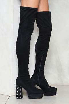 Nasty Gal nastygal Block Out the Haters Thigh-High Boot