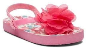 Laura Ashley Floral Applique Flip Flop Sandal (Toddler & Little Kid)