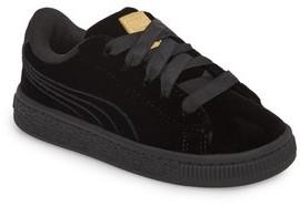 Puma Girl's Basket Classic Velour Sneaker