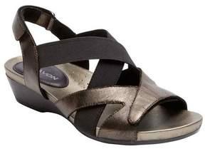 Aravon Women's Standon X Strap Slingback Wedge Sandal