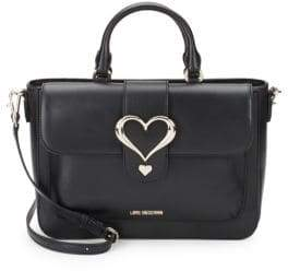 Love Moschino Heart Leather Satchel