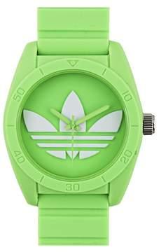 adidas Unisex ADH6172 Santiago Green Dial Green Silicone Strap Watch