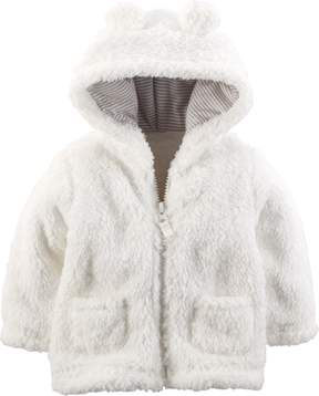 Carter's Baby Girls Hooded Bear Jacket