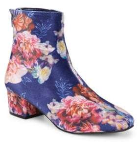 Betsey Johnson Floral Velvet Booties